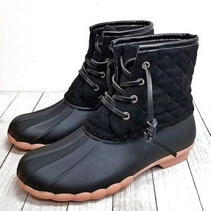New Black Duck Ankle Boots Booties